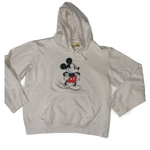 Vintage Disney Mickey Mouse white hoodie sweater